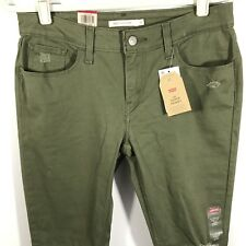 Levi's 535 Super Skinny Jeans 30X30 Pants Women's Mid Rise Green Size 10 30X29