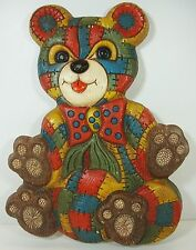 Foam Craft Quilted Look Teddy Bear Wall Hanging 1979 Nursery Decor