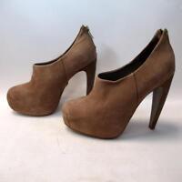 Kurt Geiger Designer Ladies High Heel Shoes - Beige Leather Suede - Size 38