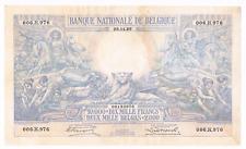 """RRR  10.000 Francs/2000 BELGAS  type """"1929""""   28/11/1929    Morrin 110a   XF+"""
