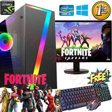 Gaming PC Computer Bundle Intel Quad Core i5 16GB 1TB Windows 10 2GB GT710