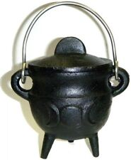 "3.5"" Triple Moon Cauldron Incense Burner Charcoal Pot Belly FREE PRIORITY SHIP !"