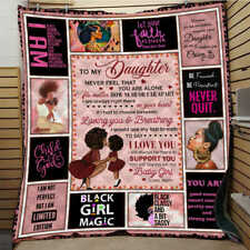 To My Daughter Express love Black Girl Quilt