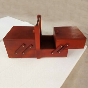 Wood Sewing Box Accessories Sew Basket Jewelry Boxes Household for Beginners