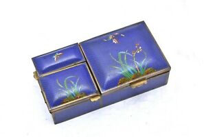 FINE old Antique ChinesevCloisonné Smoking Spice Box bronze enamel RARE PIECE