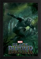 BLACK PANTHER JUMP 13x19 FRAMED GELCOAT POSTER MARVEL COMICS MOVIE BRAND NEW HOT