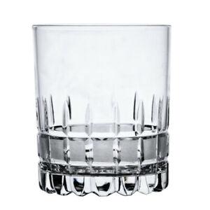 SET OF 6 Faceted Crystal Whisky Glasses Old Fashion Scotch Neman Belarus 1100/30