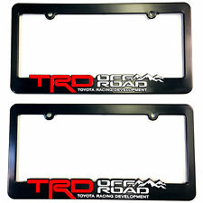 TRD-License-Plate-Frame-Toyota-TRD-Offroad-Takoma-FJ-Cruiser-4x4-off-road-Rally