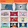Fashion Dog Cute Snoopy Peach Skin Home Pillowcase Home Decor Sofa Cushion Cover