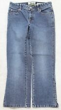 "Old Navy Jeans Pants Two 2 Blue Women's Stretch Low Waist 28"" Capri 25"" Inseam"