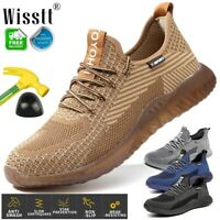 Men's Work Safety Shoes Steel Toe Bulletproof Boots TPR Indestructible Sneakers