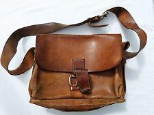 M/F Vintage Leather Shoulder Bag Briefcase – Superb Quality – 1970s