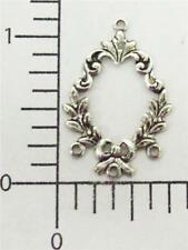 26664 - 4 Pc Victorian 3 Ring Chandelier Jewelry Finding Silver Oxidized