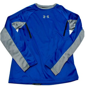 UNDER ARMOUR Performance Heat Gear Loose Long Sleeve Shirt Jersey Youth YSM Blue
