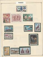 france stamps page mounted mint & used ref 17487