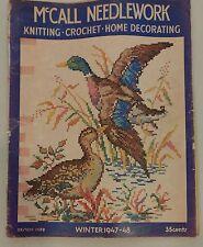 Vintage 1940s McCall Needlework Magazine Winter 1947-48 Knitting Sewing Crochet