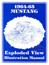 MUSTANG PARTS BOOK ILLUSTRATION MANUAL FORD EXPLODED VIEW 1964 1965 GT