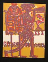 HAP Grieshaber, Der Herold, Holzschnitt aus dem Totentanz von Basel, 1966
