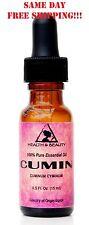 CUMIN ESSENTIAL OIL AROMATHERAPY NATURAL 100% PURE GLASS DROPPER 0.5 OZ, 15 ml