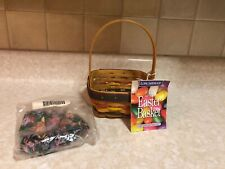 Small 1998 Stained Easter Basket Made In Usa Longaberger Mint # 11959 New in Bag