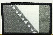 BOSNIA FLAG Patch Iron On B & G Version Military Morale Tactical Flag #06