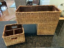 Lovely Brown Wicker Staircase Basket & Utility Basket