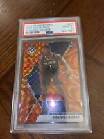 Zion Williamson 2019-20 Panini Mosaic RC Orange Reactive #209 PSA 10 GEM MINT RC