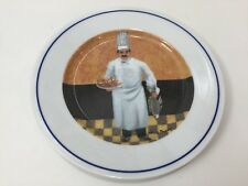 """GBC Guy Buffet Collection Chef Lucien Plate,Made in Japan,  7 7/8"""" Diameter"""