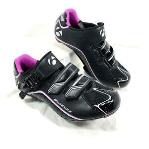Women's GUC Bontrager Inform Race dlx Black Purple Cycling Shoes Size 37