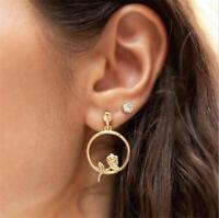 Boho Women Simple Geometric Circle Crystal Drop Dangle Earrings Fashion Designs