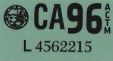Us Estados Unidos California matrícula license plate number plate año aufkläber 1996