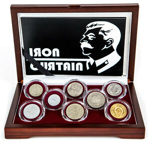 Cold War Iron Curtain - 8 Coin Collection Soviet Union Eastron Bloc Countries