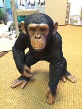 More details for standing chimpanzee sculpture chimp statue life like chimpanzee for home garden
