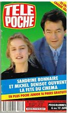 A- Télé Poche N°1112 Sandrine Bonnaire et Michel Denisot