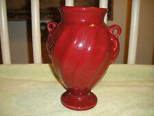 Haeger Pottery Burgundy Urn Vase-Lovely Haeger Vase W/Ripple Design-Heavy Vase