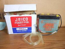 New NOS Vintage Jeico Motorcycle Battery 6N4B-2A-2 Kawasaki F9 F11