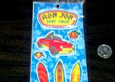 RON JON Surf Shop Kids 17 pc Puffy Vinyl Sticker Set Decals Sheet Longboard roxy