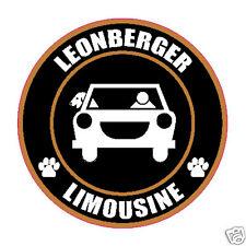 "Limousine Leonberger 5"" Dog Sticker"