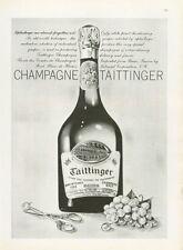 1962 Taittinger Brut French Champagne Vintage 1953 Bottle  PRINT AD
