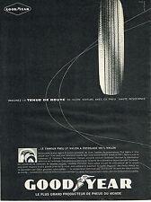 PUBLICITE ADVERTISING   1961   GOODYEAR   pneus  tenue de route