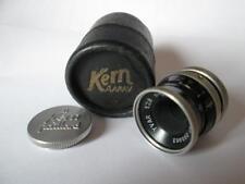 Kern Paillard Yvar 2.8 f=12.5mm AR, D Mount Lens + Front Cap & Box circa 1940`s
