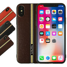 For iPhone XS Case Leather Pattern Shockproof Soft TPU Protective Back Cover