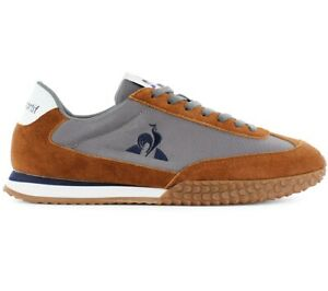 Le Coq Sportif Veloce Men's Sneaker Grey Brown 2110224 Leisure Sport Shoes