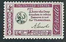 Scott #1143...4 Cent...Lincoln Credo...25 Stamps