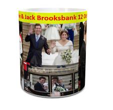 princess eugenie and jack brooksbank royal wedding mug 11oz ceramic wedding day