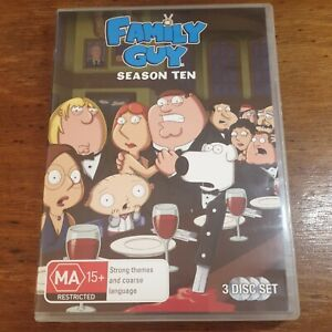 Family Guy Season 10 DVD R4 Like New! FREE POST