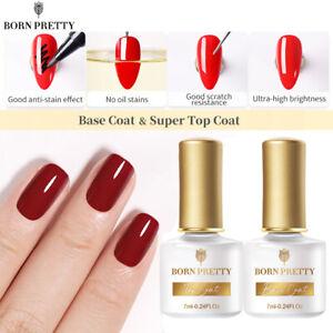 BORN PRETTY 7ml Soak Off Base Super Top Coat UV/LED Nail Art Gel Polish Manicure