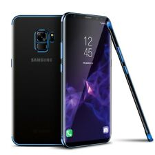 Funda protectora móvil para Samsung Galaxy S9 Transparente Azul NUEVO