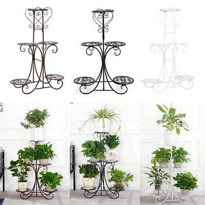 5 Tier Metal Plant Pot Stand Flower Display Shelf Garden Balcony Outdoor Indoor