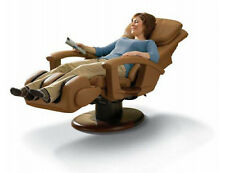 Cappuccino HT-135 LEATHER Electric Power Human Touch Massage Chair Recliner